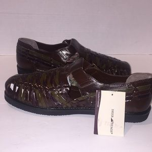 New Bamboo Deer Stage Leather Sandals